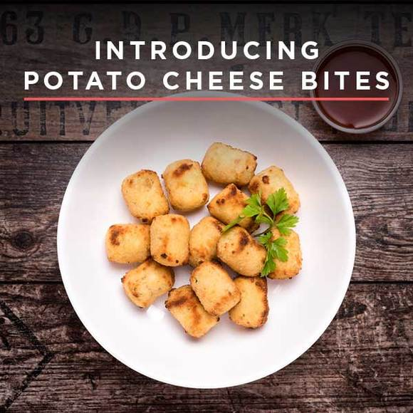Potato cheese bites pop banner